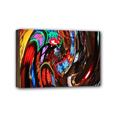 Abstract Chinese Inspired Background Mini Canvas 6  x 4