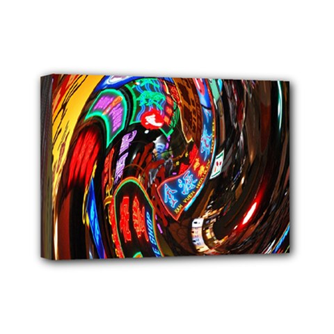 Abstract Chinese Inspired Background Mini Canvas 7  x 5