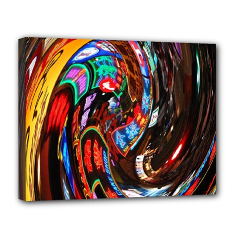 Abstract Chinese Inspired Background Canvas 14  X 11