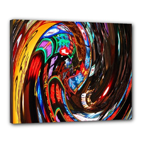 Abstract Chinese Inspired Background Canvas 20  X 16