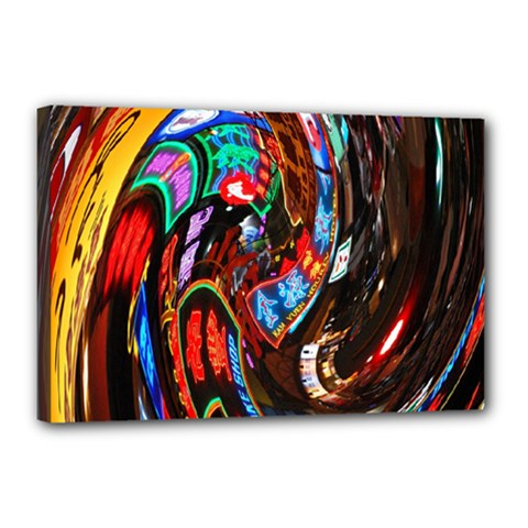 Abstract Chinese Inspired Background Canvas 18  X 12
