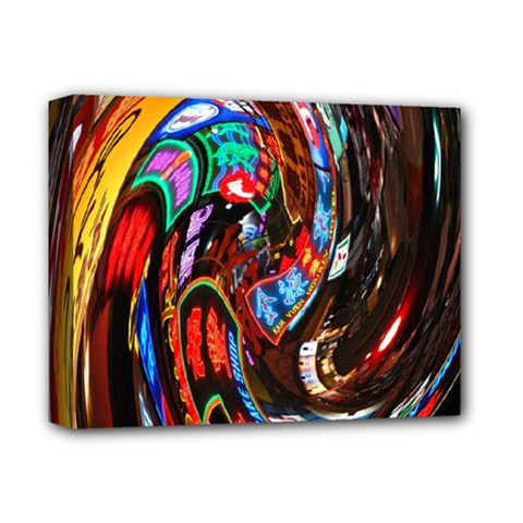 Abstract Chinese Inspired Background Deluxe Canvas 14  x 11