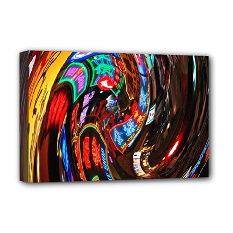 Abstract Chinese Inspired Background Deluxe Canvas 18  X 12