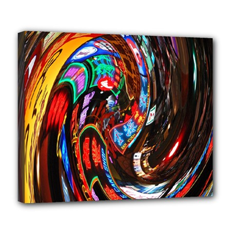 Abstract Chinese Inspired Background Deluxe Canvas 24  x 20