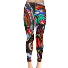 Abstract Chinese Inspired Background Leggings