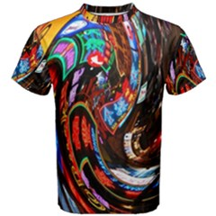 Abstract Chinese Inspired Background Men s Cotton Tee