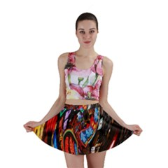 Abstract Chinese Inspired Background Mini Skirt
