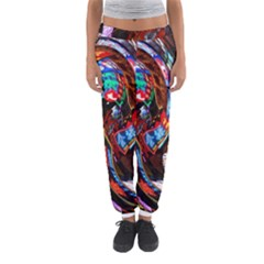 Abstract Chinese Inspired Background Women s Jogger Sweatpants