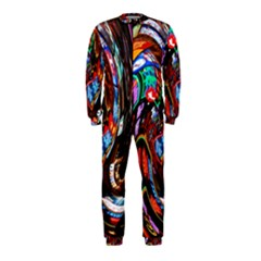 Abstract Chinese Inspired Background OnePiece Jumpsuit (Kids)