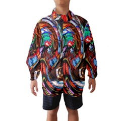 Abstract Chinese Inspired Background Wind Breaker (kids)