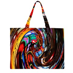 Abstract Chinese Inspired Background Large Tote Bag