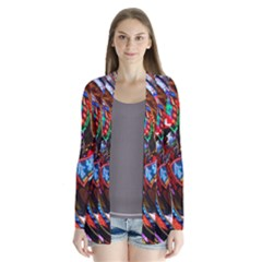 Abstract Chinese Inspired Background Cardigans