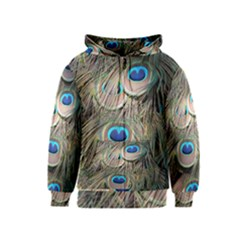 Colorful Peacock Feathers Background Kids  Zipper Hoodie