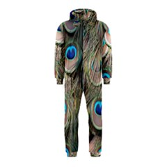 Colorful Peacock Feathers Background Hooded Jumpsuit (Kids)