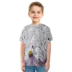 Abstract Pattern Kids  Sport Mesh Tee