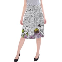 Abstract Pattern Midi Beach Skirt