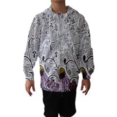 Abstract Pattern Hooded Wind Breaker (Kids)