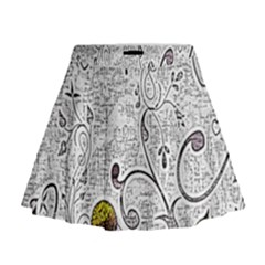 Abstract Pattern Mini Flare Skirt