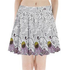 Abstract Pattern Pleated Mini Skirt