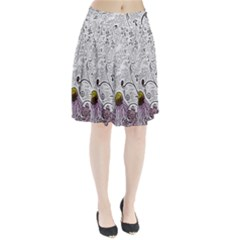 Abstract Pattern Pleated Skirt
