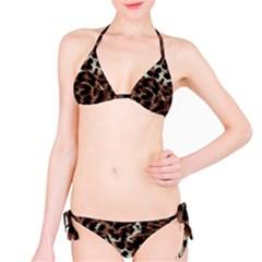 Background Fabric Animal Motifs Bikini Set