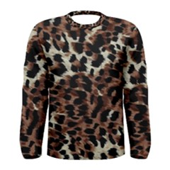 Background Fabric Animal Motifs Men s Long Sleeve Tee