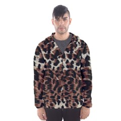 Background Fabric Animal Motifs Hooded Wind Breaker (men)