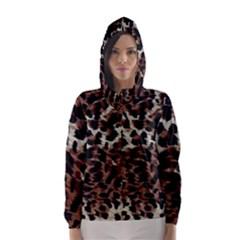 Background Fabric Animal Motifs Hooded Wind Breaker (Women)