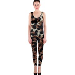 Background Fabric Animal Motifs OnePiece Catsuit