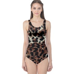 Background Fabric Animal Motifs One Piece Swimsuit