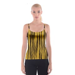 Seamless Fur Pattern Spaghetti Strap Top