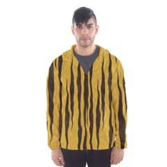 Seamless Fur Pattern Hooded Wind Breaker (men)