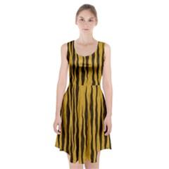 Seamless Fur Pattern Racerback Midi Dress