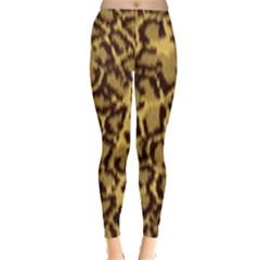 Seamless Animal Fur Pattern Leggings