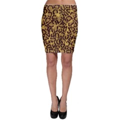 Seamless Animal Fur Pattern Bodycon Skirt