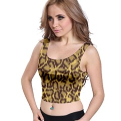 Seamless Animal Fur Pattern Crop Top