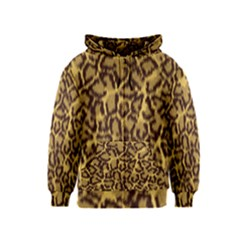 Seamless Animal Fur Pattern Kids  Zipper Hoodie