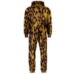 Seamless Animal Fur Pattern Hooded Jumpsuit (men)