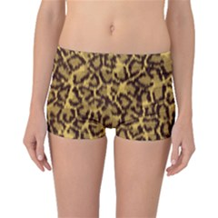 Seamless Animal Fur Pattern Boyleg Bikini Bottoms