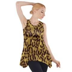 Seamless Animal Fur Pattern Side Drop Tank Tunic