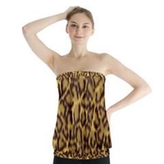 Seamless Animal Fur Pattern Strapless Top