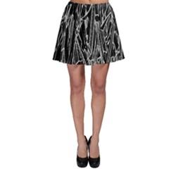 Gray Background Pattern Skater Skirt