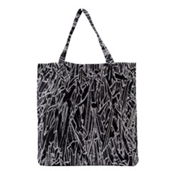 Gray Background Pattern Grocery Tote Bag