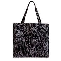 Gray Background Pattern Zipper Grocery Tote Bag