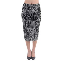 Gray Background Pattern Midi Pencil Skirt