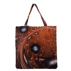 Fractal Peacock World Background Grocery Tote Bag