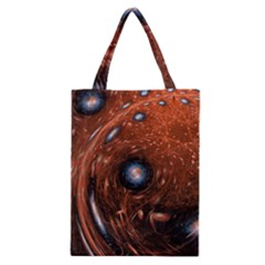 Fractal Peacock World Background Classic Tote Bag