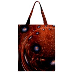 Fractal Peacock World Background Zipper Classic Tote Bag