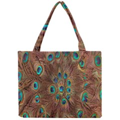 Peacock Pattern Background Mini Tote Bag