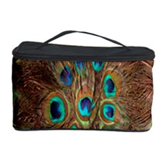 Peacock Pattern Background Cosmetic Storage Case